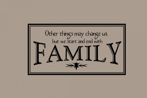 Start and End with Family Decal Quotes Words Wall Letters Sayings ...