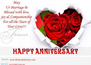 Happy Anniversary - Marriage Quote.