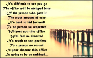 Farewell poem to say goodbye to a colleague or co-worker