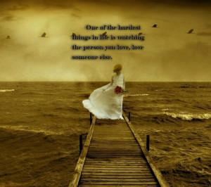 Wallpaper,background,picture,quotes,love,girl,trestle,sea,white dress