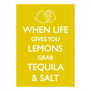 WHEN LIFE GIVES YOU LEMONS GRAB TEQUILA & SALT POSTCARD RETRO FUNNY ...