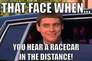 Not necessary a racecar but a mustang