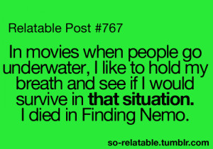 ... film movies movie true true story finding nemo relatable funny quotes