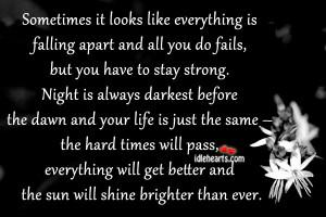 Better, Fail, Falling, Hard, Inspirational, Life, Night, Shine, Strong