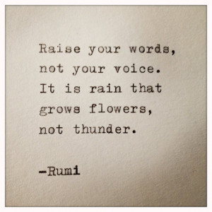 Rumi Quote Typed on Typewriter