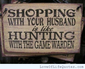 Shopping with your husband