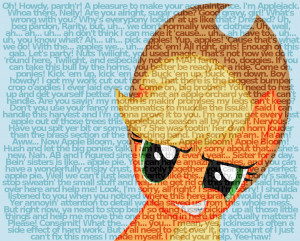 Applejack quotes by Rinsowaty