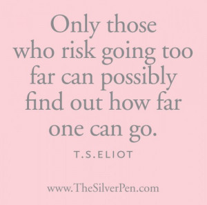 ... With: Breast Cancer Quotes & Inspiration , Silver Lining , T.S. Eliot