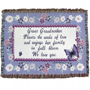 ... Grandmother Sofa Throw Blanket - Gift for Great Grandma - Made in USA