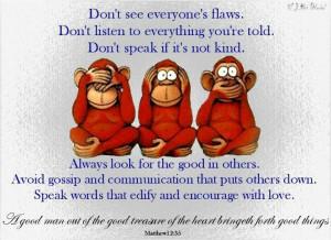 See no evil, hear no evil, speak no evil