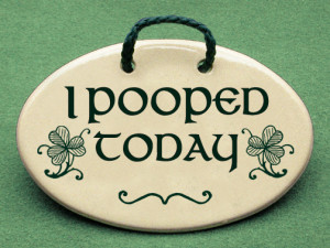Irish Sayings About Family I pooped today