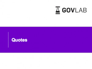 The Governance Lab - Inspirational Quotes
