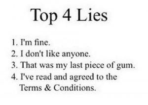 Top 4 Lies