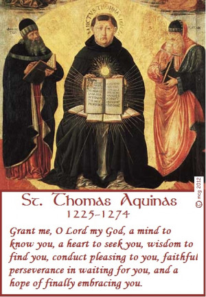 Feast Day: St. Thomas Aquinas, doctor of the Church