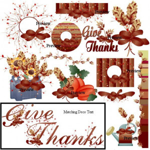 Thanksgiving Garland Clip Art