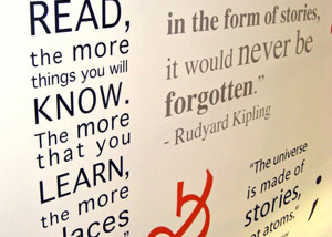 Library Wall Quote Decal