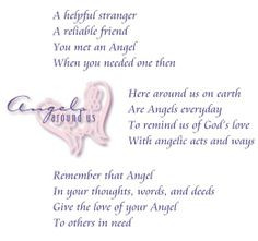 Angels Among Us Poem | Inspirational Angels