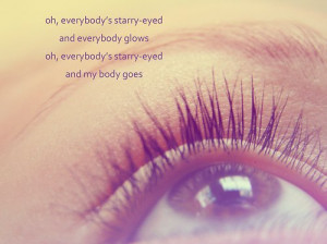 brown eye, ellie goulding, eye, lashes, love, quote, text