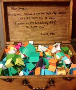... wooden or plastic chest Origami paper (at least 365 sheets) A pen