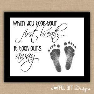 ... Footprint PRINTABLE Wall Art. Nursery Decor. Baby Shower New Mom Gift