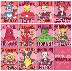Marvel Avengers Valentine Cards