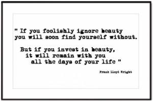 wedding message from Frank Lloyd Wright