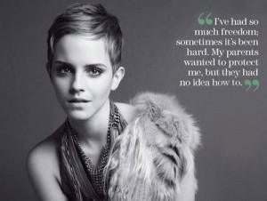 Emma watson, quotes, sayings, freedom, parents