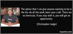 More Christopher Judge Quotes