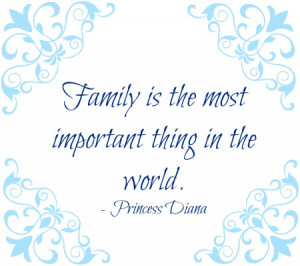 the most important thing family is the most important thing