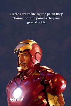 Ironman #superhero #quote #inspiration More