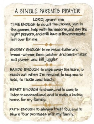 Single Parent's Prayer