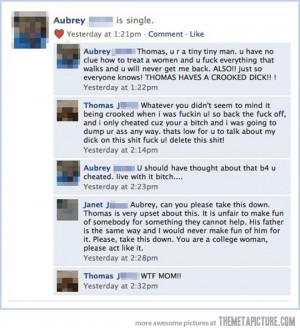 Funny photos funny break up Facebook mom