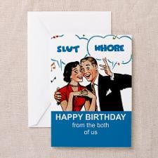 RUDE HAPPY BIRTHDAY Greeting Card for