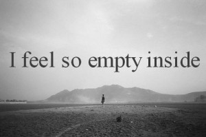 My ego tells me I am empty…..