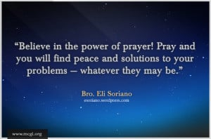 Go Back > Gallery For > Believe In The Power Of Prayer Quotes