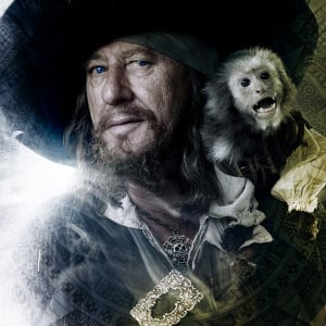 Captain Barbossa and the monkey Jack
