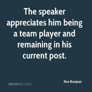 Quotes About Being A Team Player ~ Ron Bonjean Quotes | QuoteHD