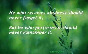 quotes great quote on life that says he who receives kindness in green ...