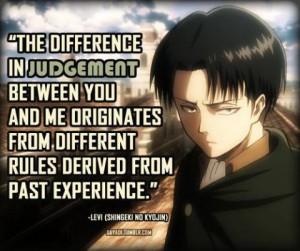 Levi Attack on titan Anime quotes