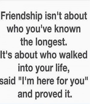 Here For You Friendship Quote