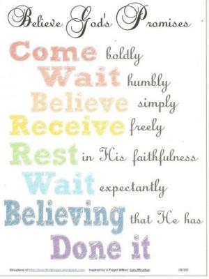 Believe God's Promises