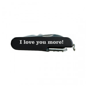 love you more! Quote Laser Engraved Black Multi Tool Multitool ...