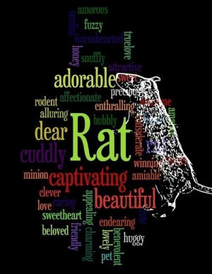 Pet Rat Word Art Poem Print by artbarkers on Etsy, $7.99