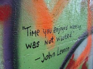 John lennon, quotes, sayings, time, enjoy, inspiring