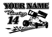 Is For Racing Sprint Car Decal Sticker Personalized Sprint Car Racing ...