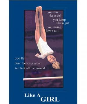 Cool Gymnastics Posters Bars edition like a girl