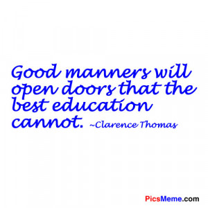 Good Manners quote #1