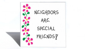 Neighbor Gift Magnet, Quote, special friends, people next door ...