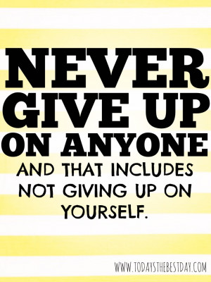... uchtdorf never give up on anyone and that includes not giving up on
