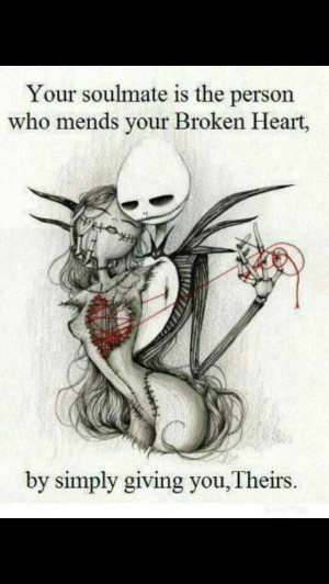 Jack Skellington And Sally Quotes Your soul mate is the person